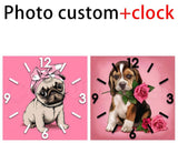 """Photo Custom+Clock"" Diamond Painting"