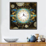 3D  Diamond Embroidery Flower Wall Clock