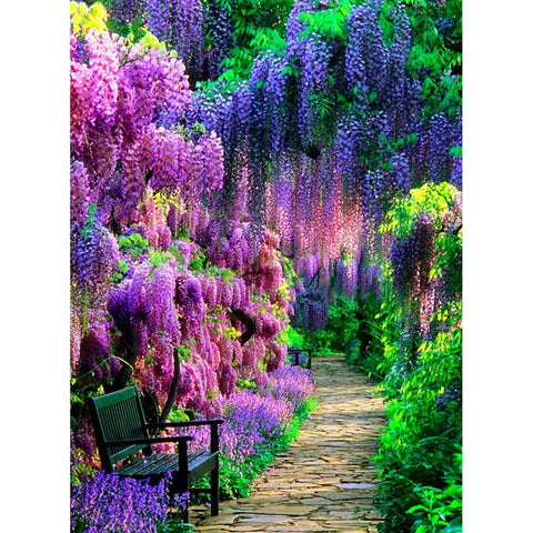 """Wisteria Flower Garden"" 5D Diamond Embroidery"