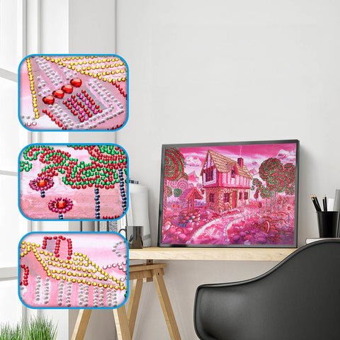 "Special Shaped 5D DIY Diamond Painting ""Sweet House Lollipop"""