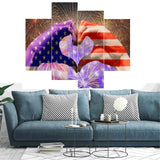 4pc/Set Rhinestone Diamond Painting Flag