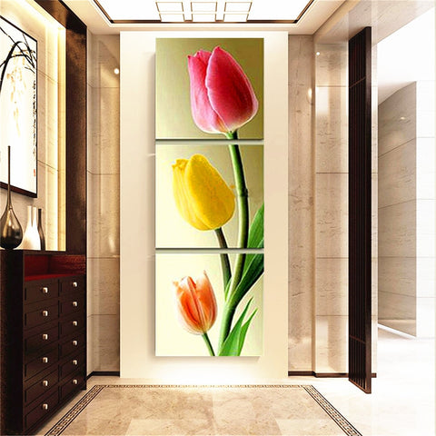 3pc/set 5D Diamond Painting Flower Tulip