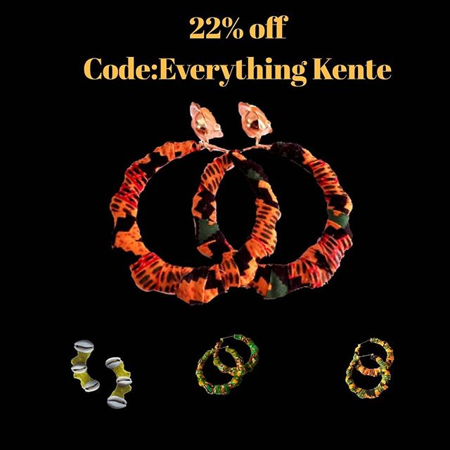 22% off the kente collection...