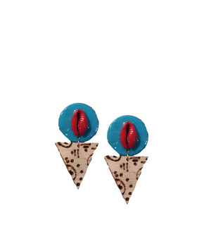Afrocentric stud earrings