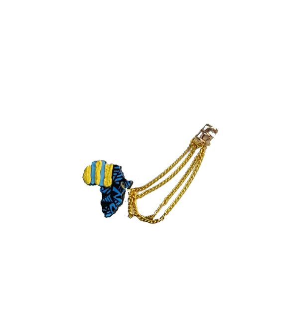Funky Africa continent ear cuff