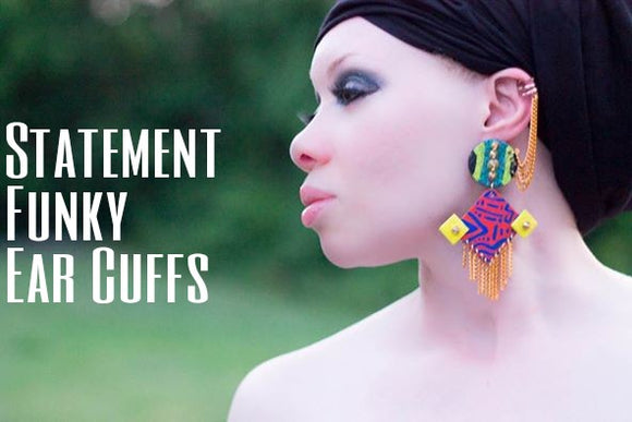 Statement Ear cuff African fashion style earrings