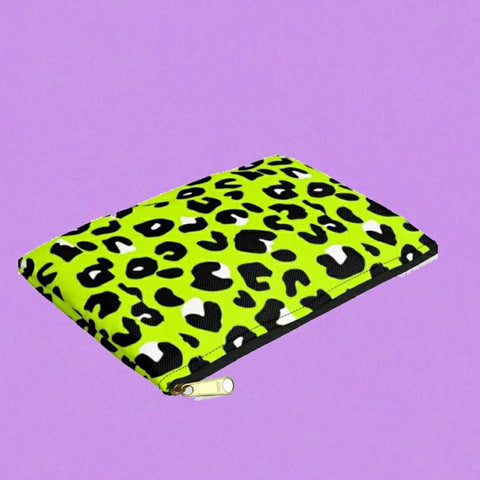 Green leopard ~Pouch bag