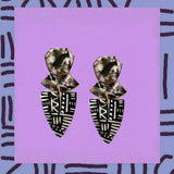 Pantha•Triangle tribal studs