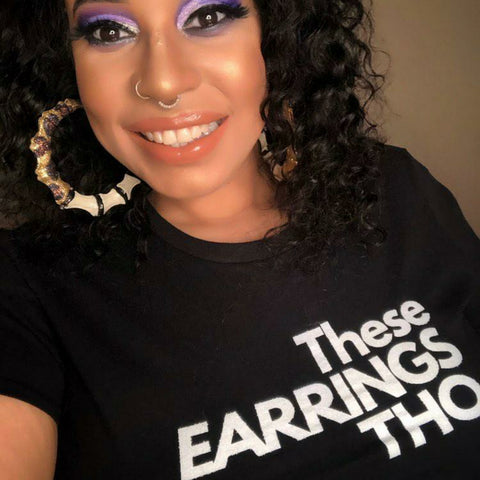 THESE EARRINGS THO•all black only Short-Sleeve Unisex T-Shirt