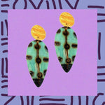 Exaggerated  bohemian clip on earrings