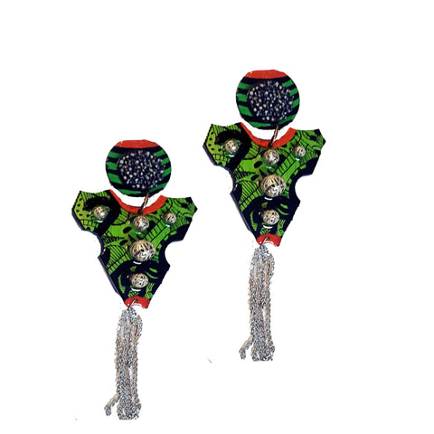 big dope Wearable art  earrings