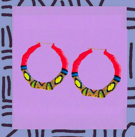 80s party•Neon glitter glam earrings