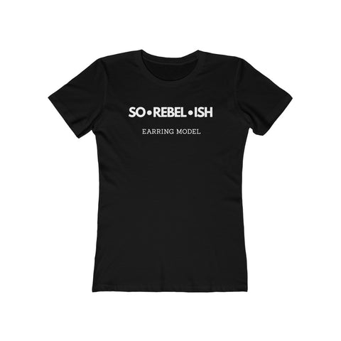 Sorebelish signature earring model• tee shirt
