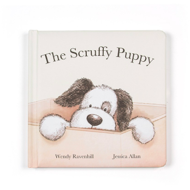 Jellycat Scruffy Puppy Book - Baby Laurel & Co.