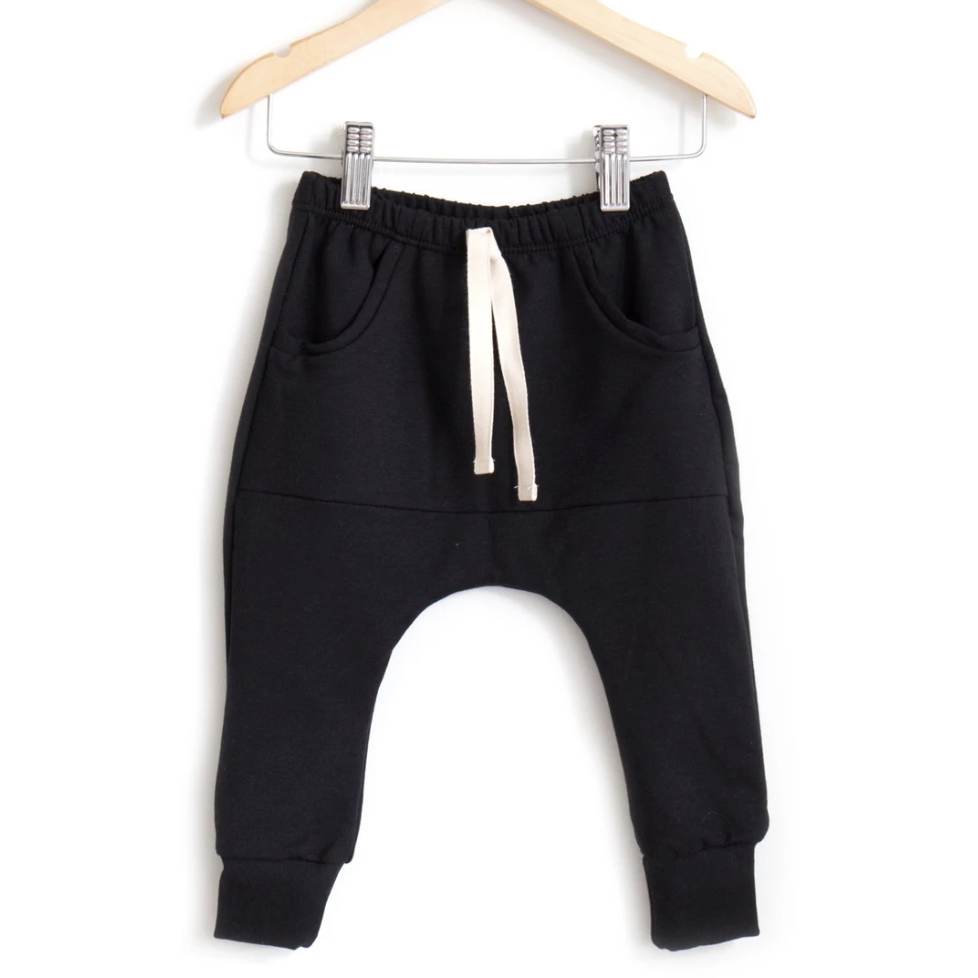 Posh & Cozy Pocket Jogger - Black - Baby Laurel & Co.
