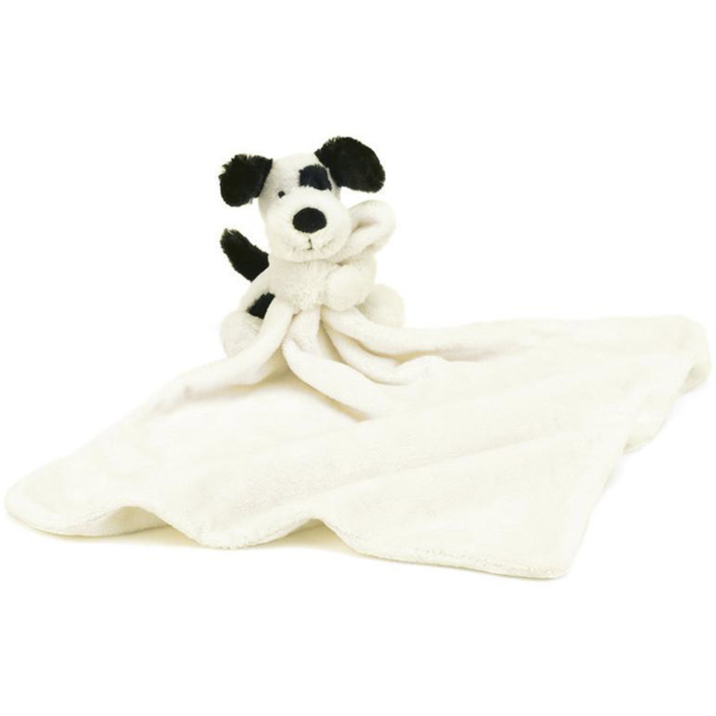 Jellycat Bashful Black & Cream Puppy Soother - Baby Laurel & Co.