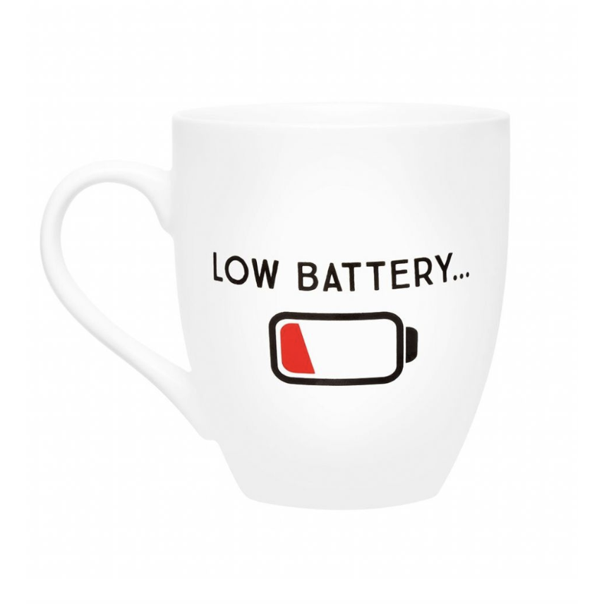 Pearhead Low Battery Mug