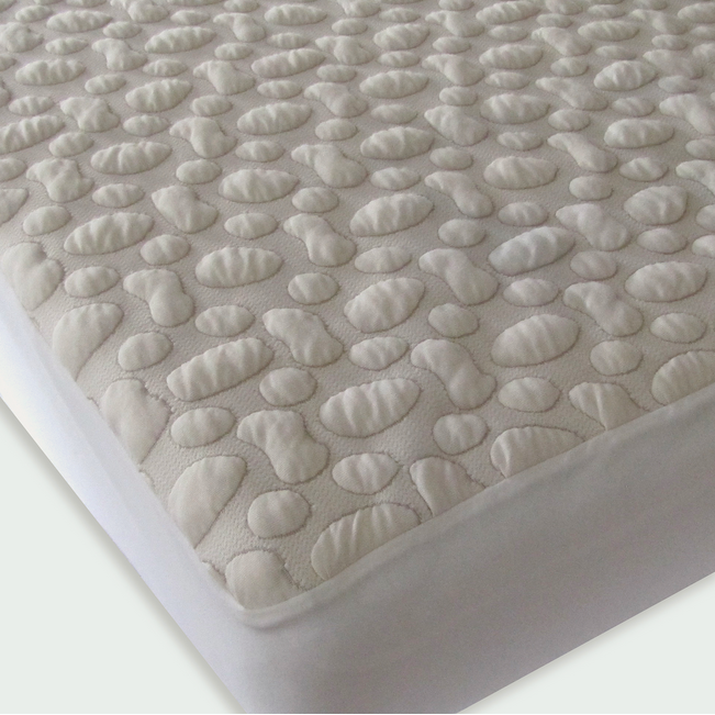 Forty Winks Mattress Protector - Organic Pebble Puff