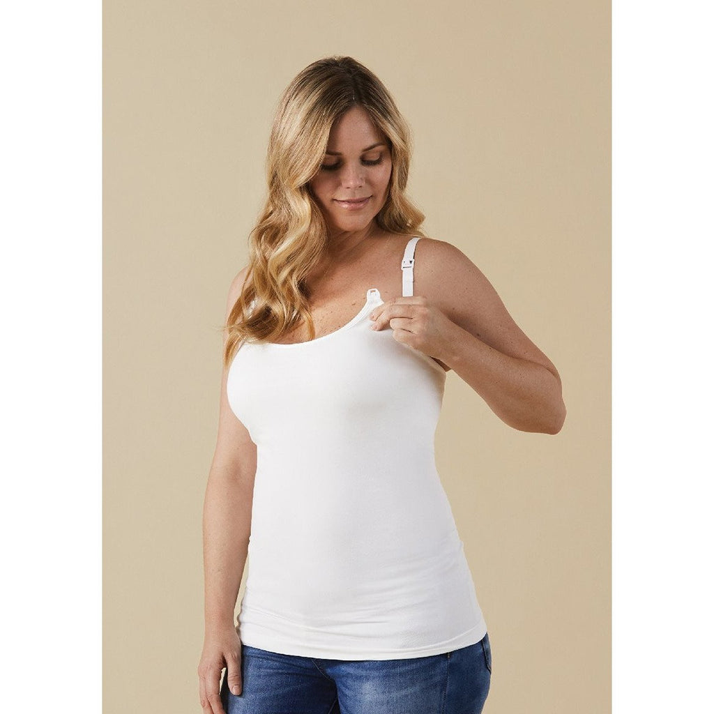 Bravado Nursing Cami- White - Baby Laurel & Co.