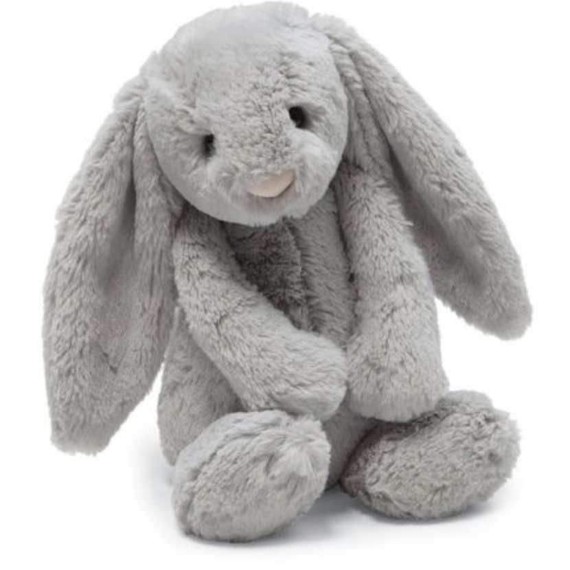JellyCat Bashful Grey Snow Bunny