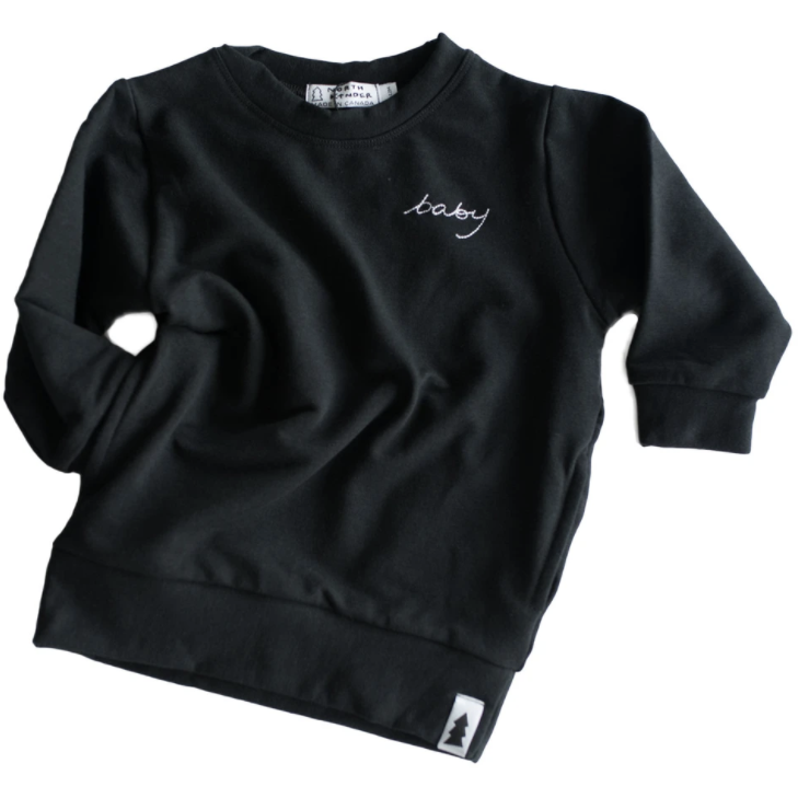 North Kinder Baby Sweater - Black