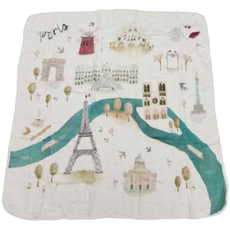 Loulou Lollipop Deluxe Muslin Quilt Cities