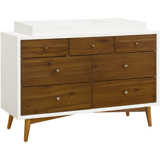 Babyletto Palma Mid Century 7 Drawer Dresser - Baby Laurel & Co.