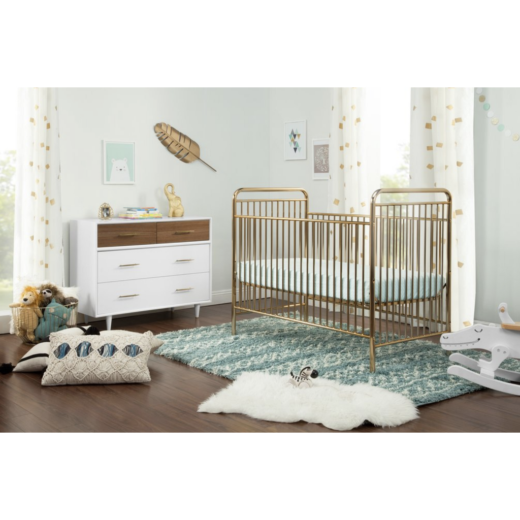 Babyletto Jubilee 3-in-1 Convertible Metal Crib - Baby Laurel & Co.