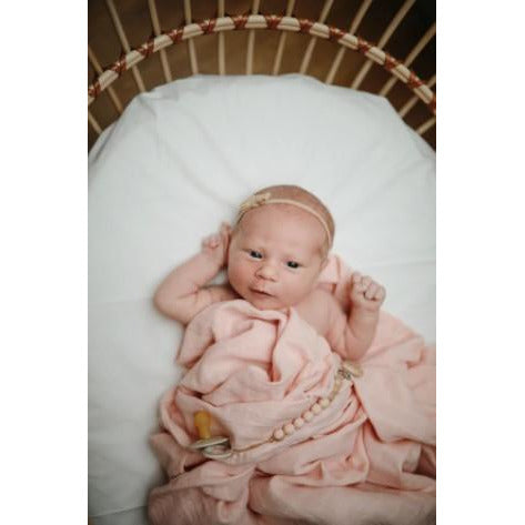 Mushie Muslin Swaddle Blanket Organic Cotton