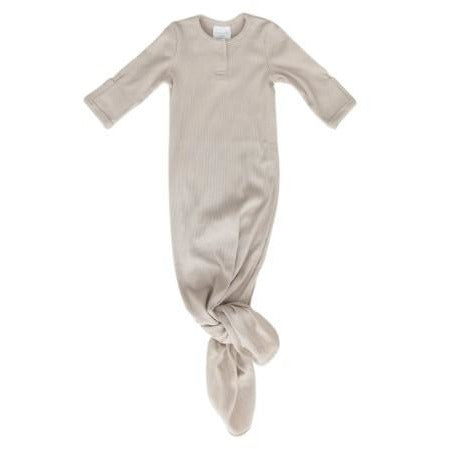Mebie Baby Ribbed Knotted Gown