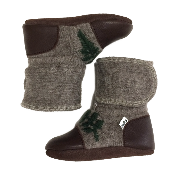 Nooks Design Felted Wool Booties - Sparrow