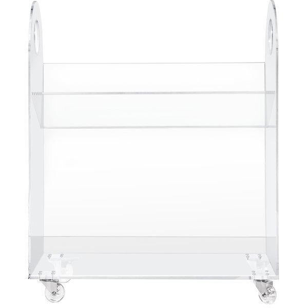 Babyletto Presto Acrylic Bookcase & Cart - Baby Laurel & Co.