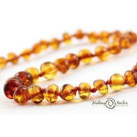 Healing Amber Necklace 11 Inches - Baby Laurel & Co.