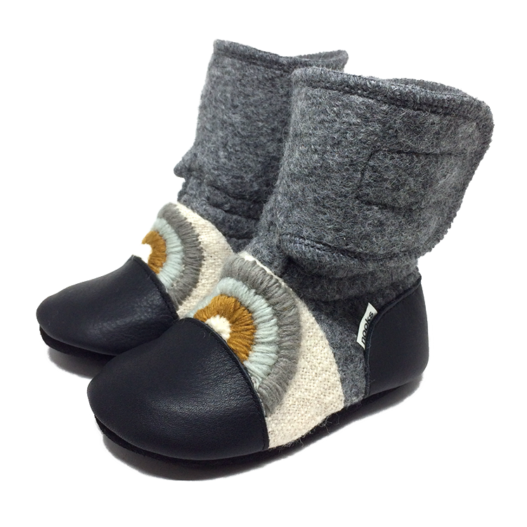 Nooks Design Felted Wool Booties - Cove