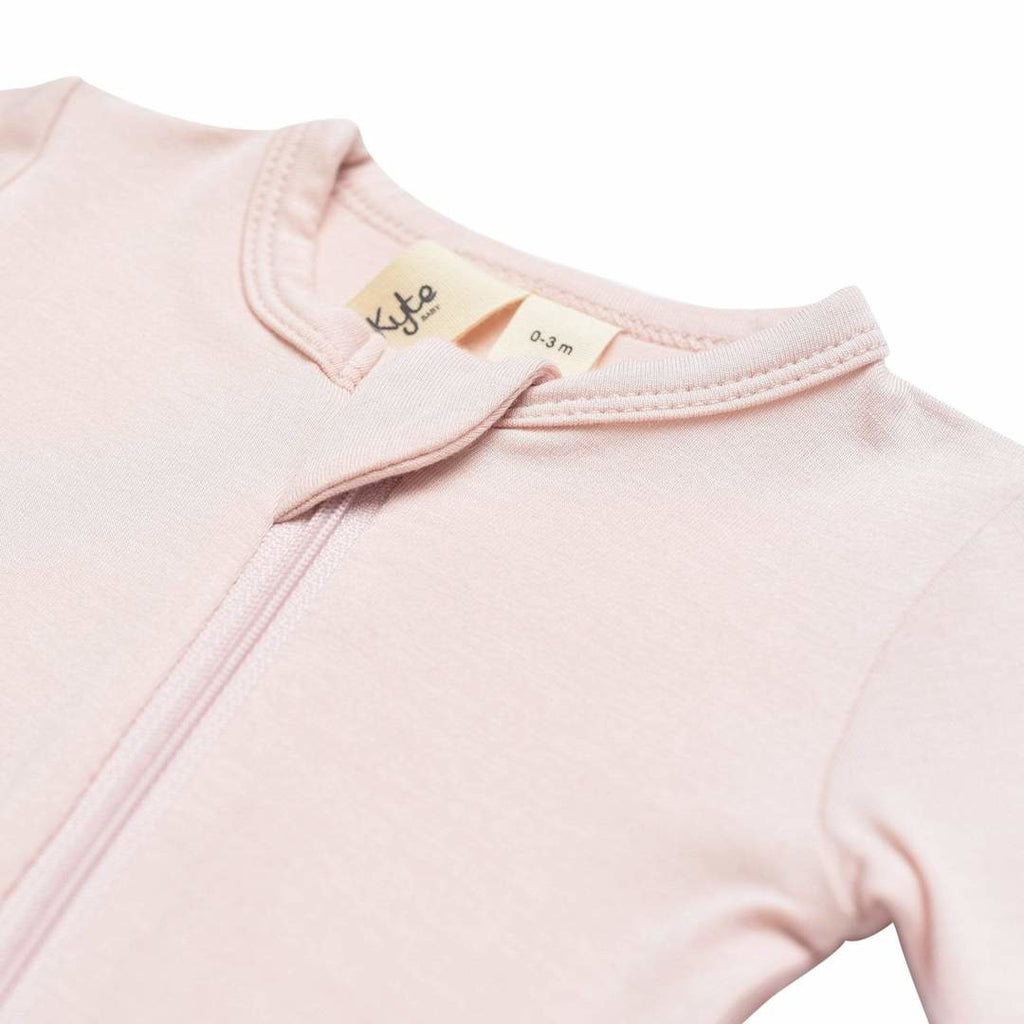 Kyte Baby Zippered Romper - Blush - Baby Laurel & Co.