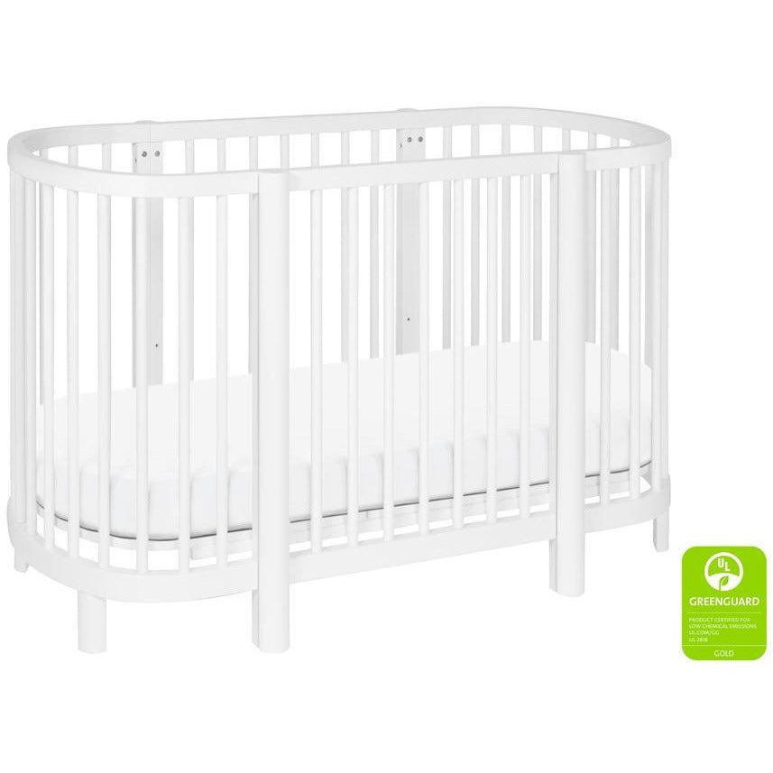 BabyLetto Hula Oval Crib w/ Mini Bassinet Conversion - Baby Laurel & Co.