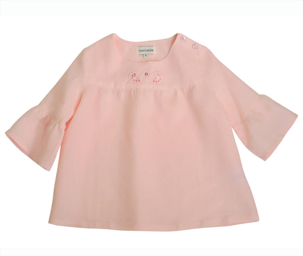 Blouse brodée FLORIDA Rose Pink Embroidered