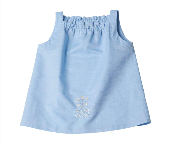 Top Nikita bleu ciel blu Dobby Cotton