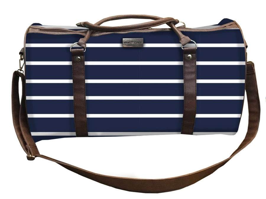 Blue Lagoon Navy Striped Weekender Bag