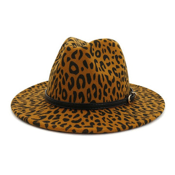 Khaki Animal Print Fedora