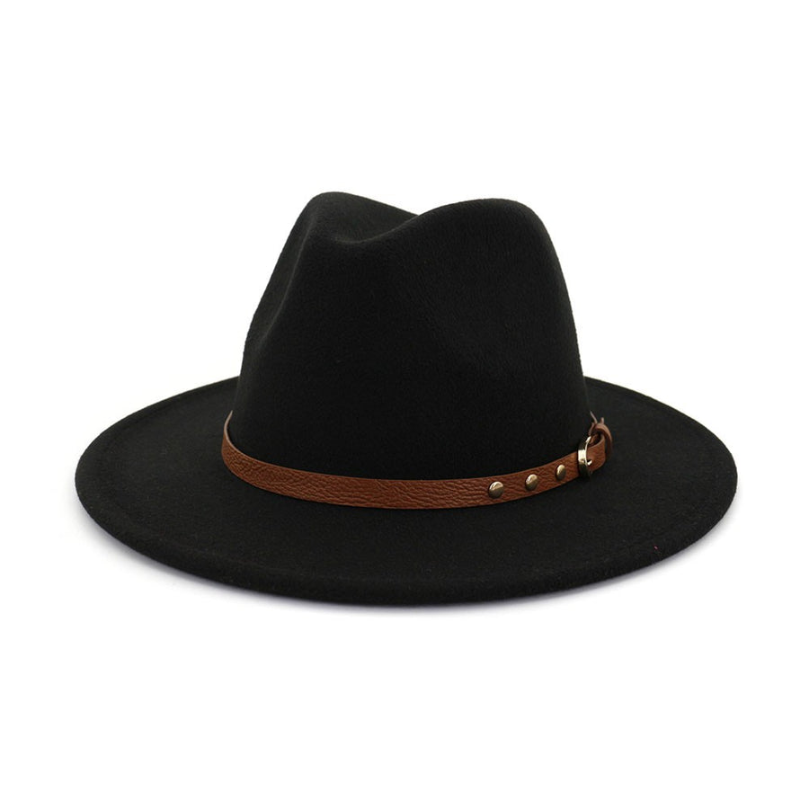 Black Trendy Panama Hat