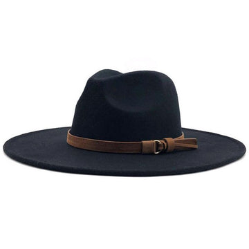 Black Wide Brim Panama Hat