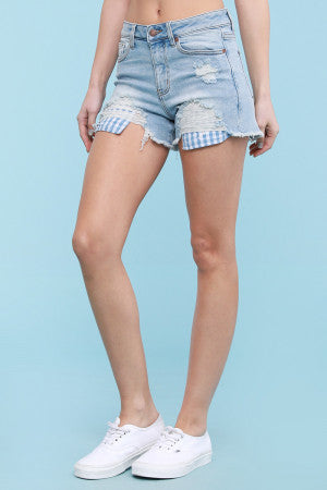 Judy Blue Jeans Gingham Pocket Shorts