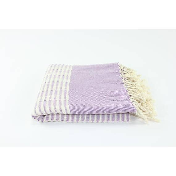 Premium Handmade Peshtemal Beach Towel in Purple