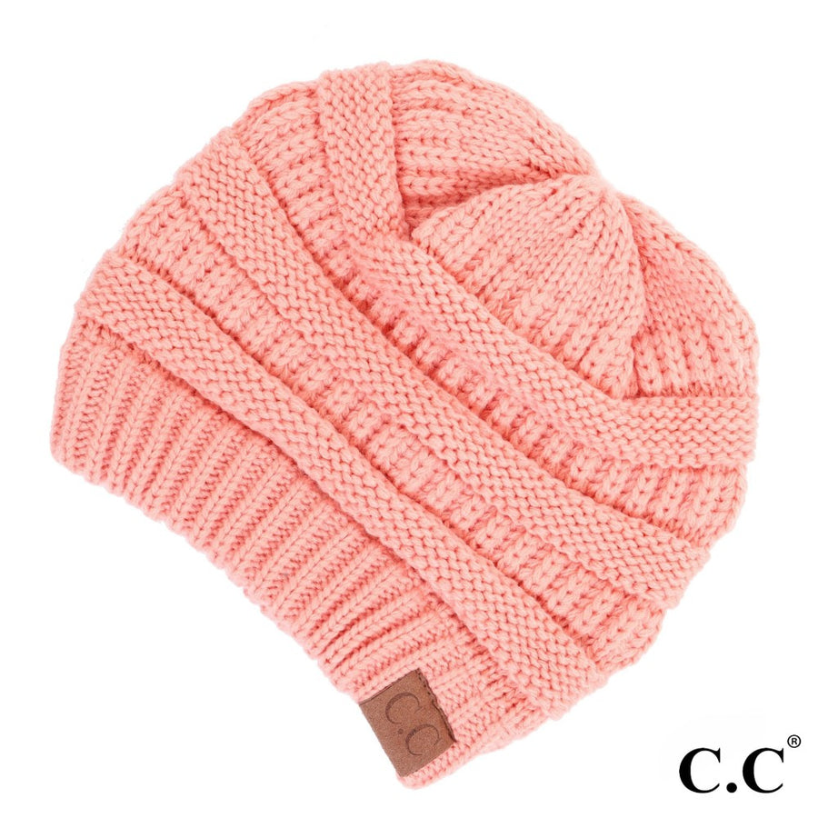 The Original CC Beanie in Peach