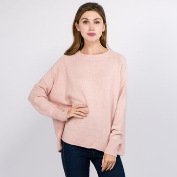 Pink Oversized Knitted Sweater