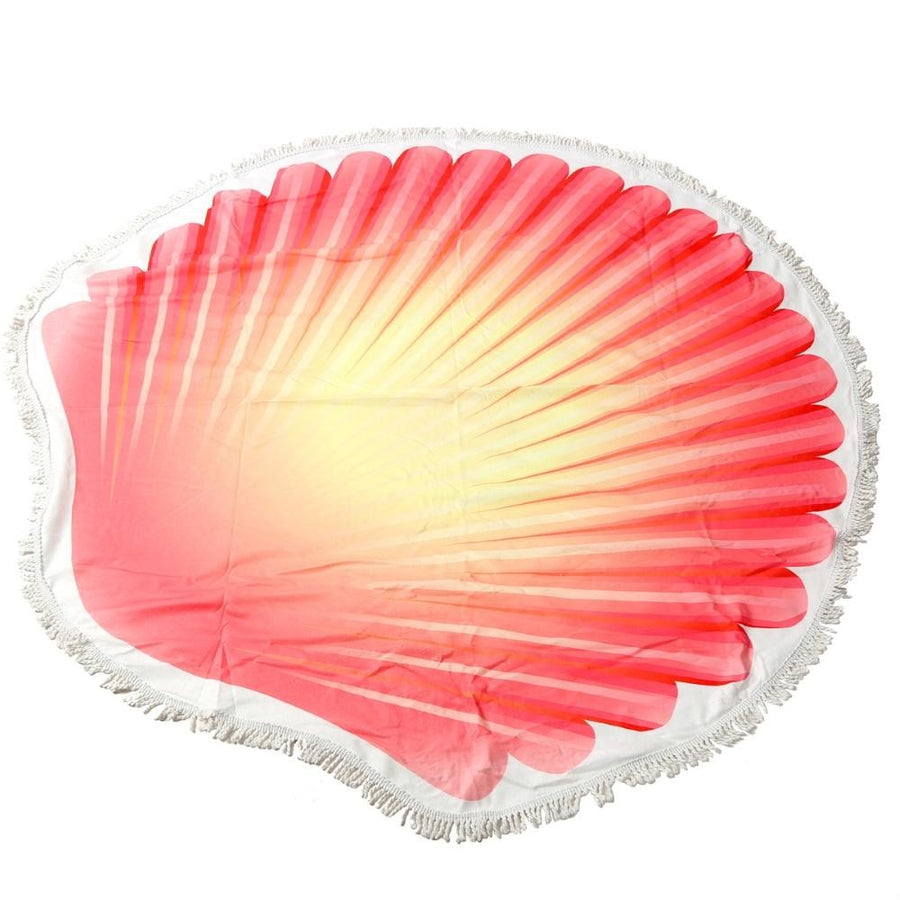 Seashell Fringe Luxury Round Beach Towel