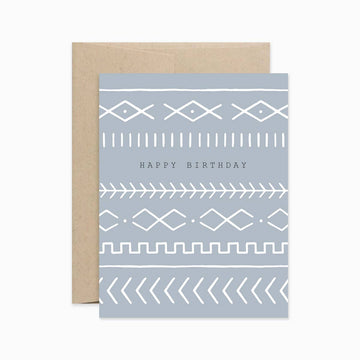 Boho Happy Birthday Greeting Card
