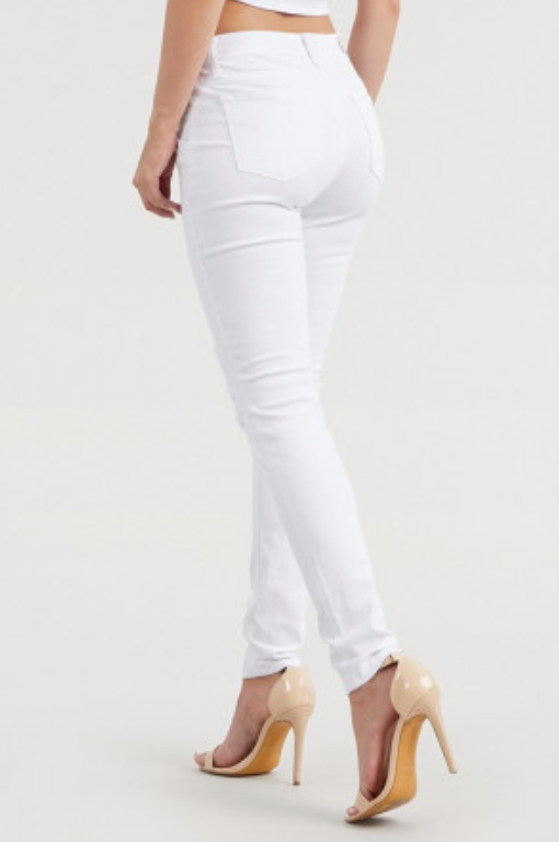 Judy Blue Jeans White Lace Patch Skinny