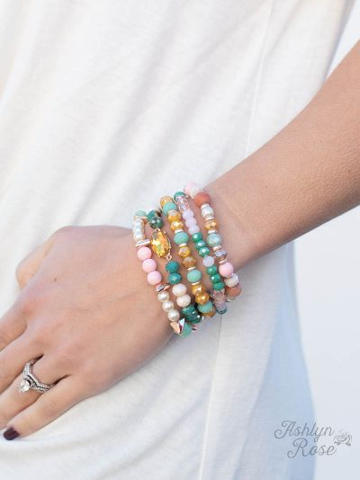 Pastel Charm So Put Together Bracelet Set
